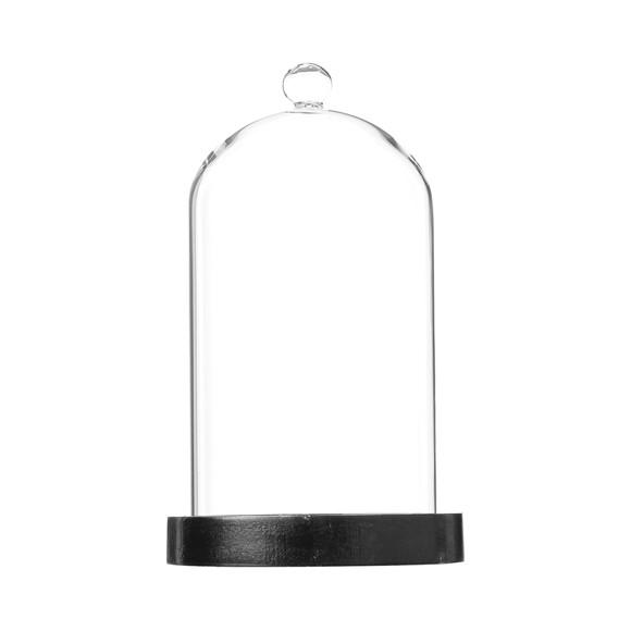 Achat en ligne Cloche verre socle noir h21cm
