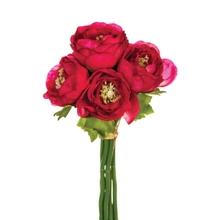 Achat en ligne Bouquet de 6 renoncules artificelles blanches 25cm