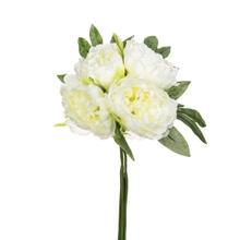Achat en ligne Bouquet de 4 pivoines artificielles blanches 30cm