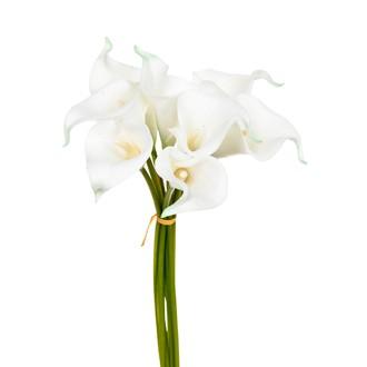 Bouquet de 8 arômes artificelles blanches 36cm