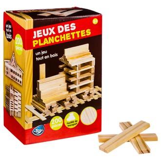 Jeu de construction 200 planchettes en bois