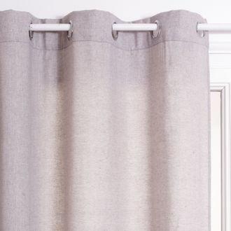 ATMOSPHERA - Rideau effet toile gris clair Joé 140xh260cm