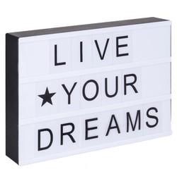 compra en línea Caja de luz 82 letras + símbolos negro A4 Lightbox