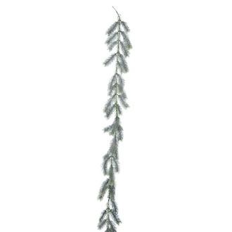Décoration de noël guirlande sapin artificiel givré 190cm