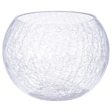 Achat en ligne Vase forme boule en verre avec effet craquele 20xH15cm