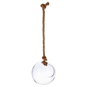 Atmosphera - coupe forme boule à poser avec corde Ø19xh22cm
