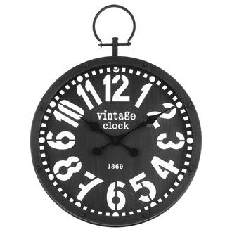 Horloge met gousset noir 45cm
