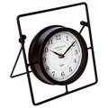 Horloge à poser en métal noir