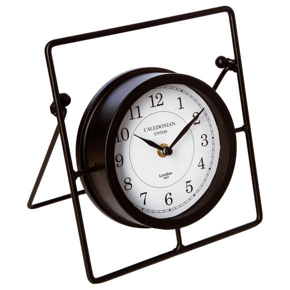 Achat en ligne Horloge à poser en métal noir