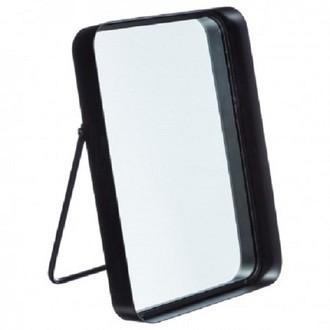 Miroir à poser contour métal noir 22x33x5,5cm