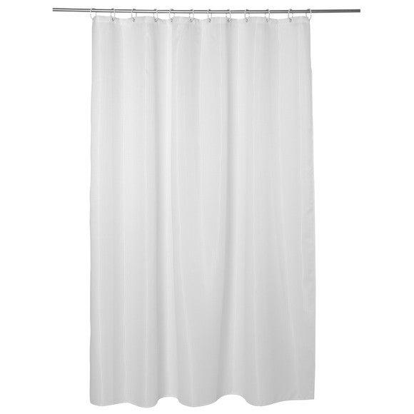 rideau de douche en nid d 39 abeille blanc 180x200cm pas cher z dio. Black Bedroom Furniture Sets. Home Design Ideas