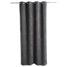 Achat en ligne Rideau aspect velours gris foncé Memo 140xh260cm