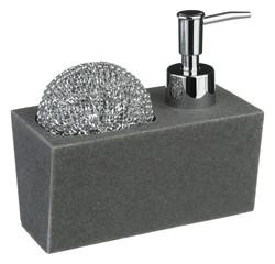 compra en línea Dispensador de jabón líquido + soporte esponja + esponja