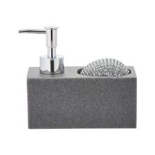 Achat en ligne Distributeur savon liquide +porte éponge +éponge grise