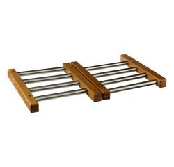 compra en línea Salvamantel extensible madera y acero Atmosphera (22 a 48 cm)
