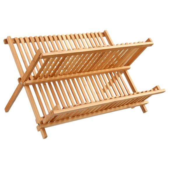 Egouttoir à vaisselle en bambou