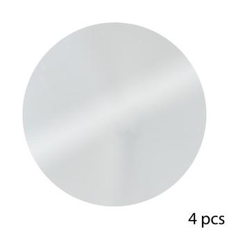 Set de 4 miroirs adhésifs ronds gris Ø20cm