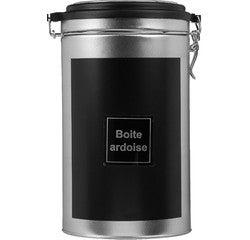 compra en línea Bote de metal para café color negro (Ø11,5 x 19 cm)