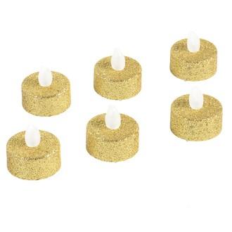 Set de 6 bougies chauffe plat LED or pailleté