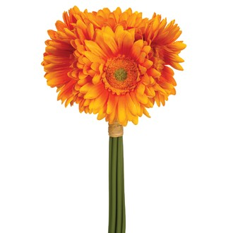 Bouquet de 7 gerberas artificels blancs 26cm