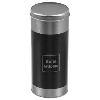 Boite de conservation de capsules en métal et ardoise