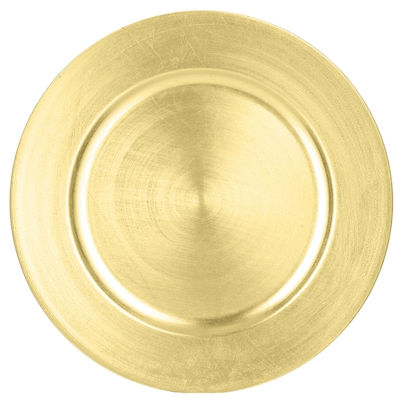Achat en ligne Assiette de présentation ronde or