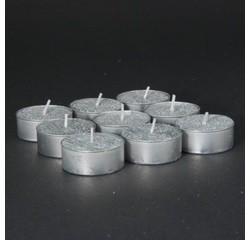 Achat en ligne Set de 9 bougies chauffe plat argent pailleté