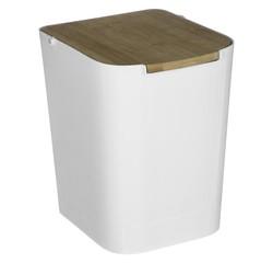 Achat en ligne Poubelle blanche 5L couvercle Bambou