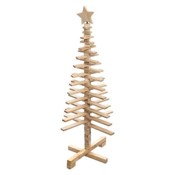Décoration de Noel sapin en bois articulé 120cm