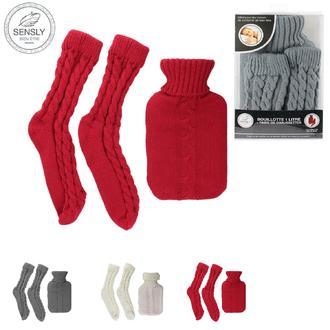 Set 1 bouillotte 1L + chaussettes