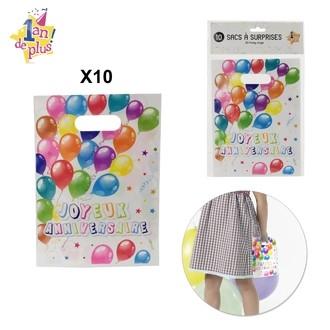 Set de 10 sacs à surprise pour anniversaire