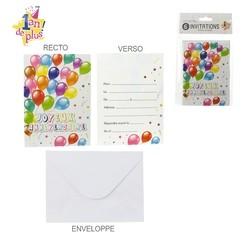 compra en línea Set de 6 invitaciones de cumpleaños