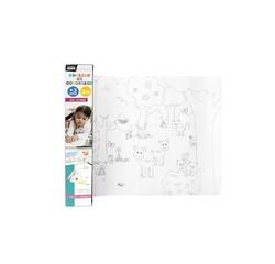 compra en línea Rollo de papel con dibujos para colorear (3 m)