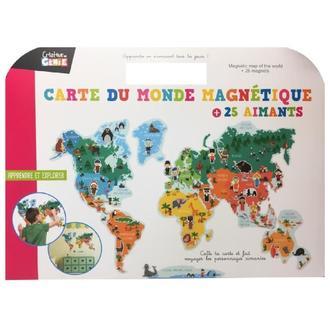 Cartes du monde magnétique