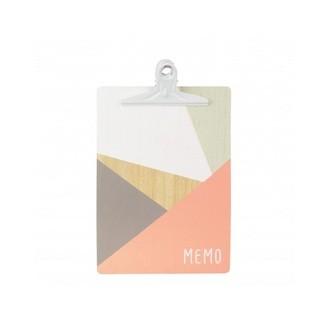 Clipboard motifs géométriques coloris pastels A4