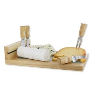 plateau à fromage bois avec 4 ustensiles