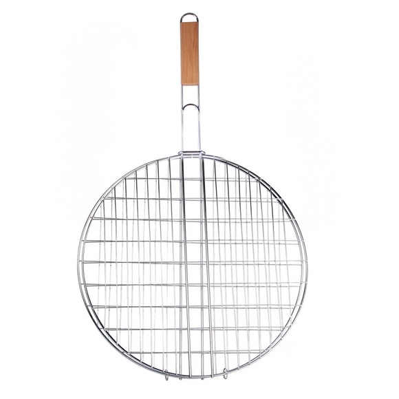 Grille double barbecue ronde 40 cm