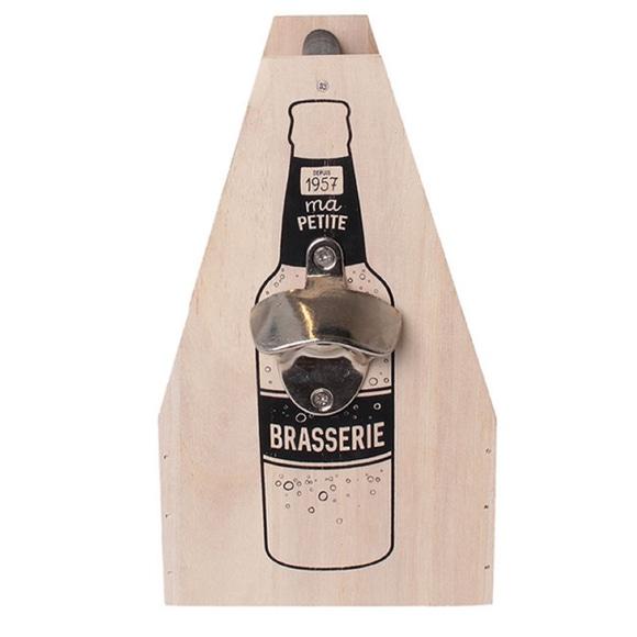 Achat en ligne Porte bouteilles bière x6 décapsuleur 24X14 5X19cm