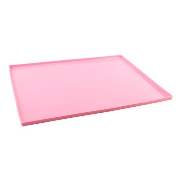 Plaque à génoise rose 27x37cm
