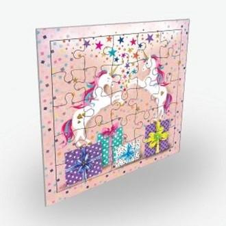 Carte puzzle et enveloppe 15x15 cm