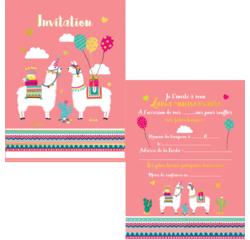 Achat en ligne 8 cartes d'invitation anniversaire à thème 10,5X15 cm