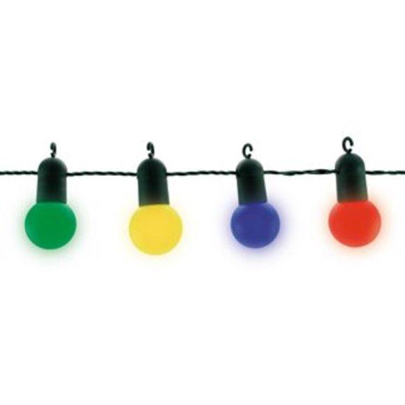 Guirlande extérieur LED guinguette multicolore 9m