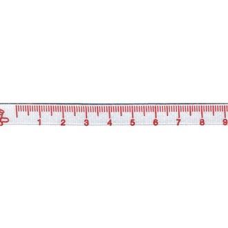 VENGO - Mètre ruban blanc et rouge 2m