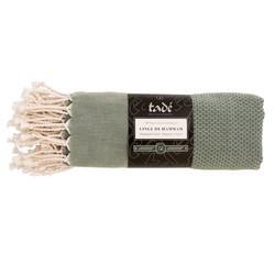Achat en ligne Linge de hammam 100x180cm en coton vert olive