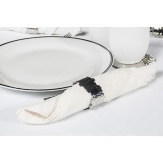 Set de 4 ronds de serviettes martelé