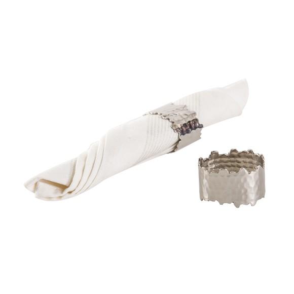 Achat en ligne Set de 4 ronds de serviettes martelé