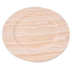 Achat en ligne Assiette hôtesse en PVC, effet bois 33cm