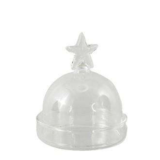 Mini bonbonnière étoile en verre