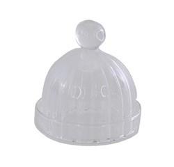 compra en línea Campana de cristal acanlado para plato transparente pequeño