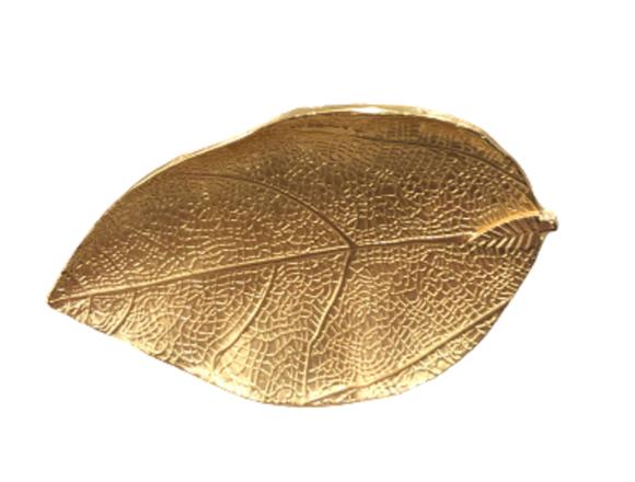 Achat en ligne 4 ronds de serviette feuilles doré